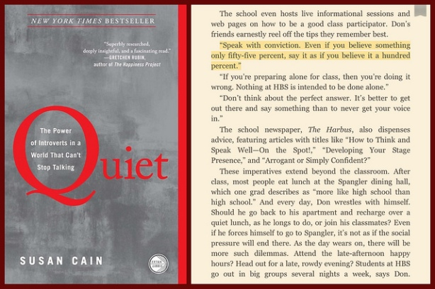 Quiet: The Power of Introverts in a World That Can't Stop Talking by readerwalker, (CC BY-NC-SA 2.0)